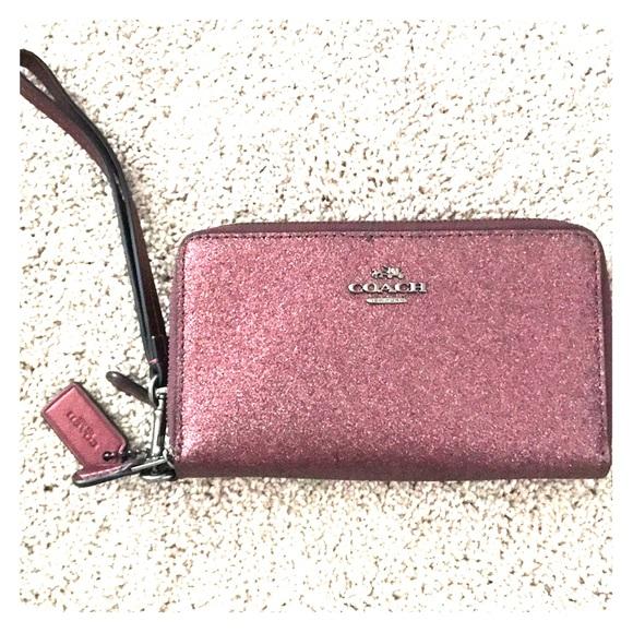 Coach Handbags - Metallic Cherry Coach Wallet NWT